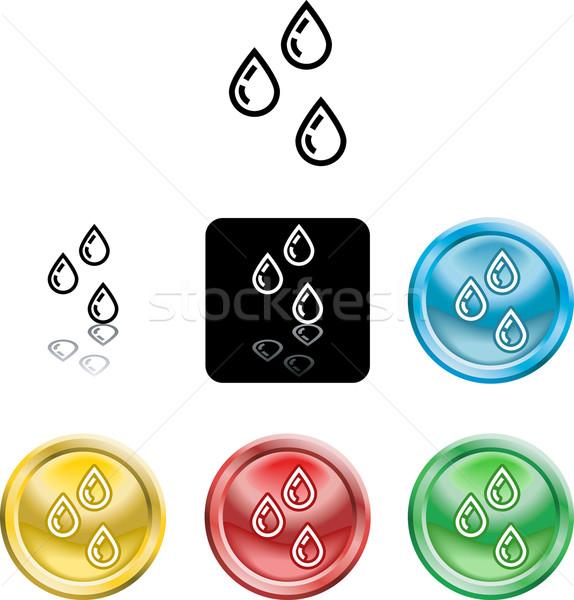 water droplets icon symbol Stock photo © Krisdog