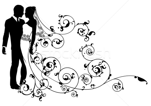 Stock photo: Bride and groom abstract