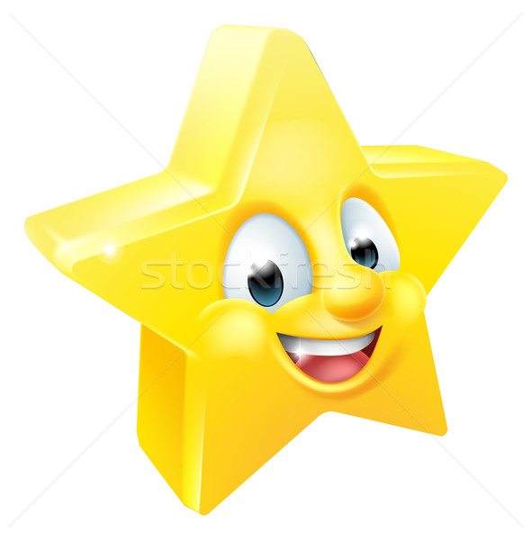 Star Emoji Emoticon Mascot Stock photo © Krisdog