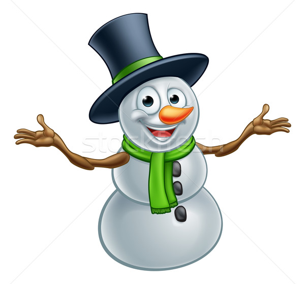 Cartoon Christmas Snowman Stock photo © Krisdog