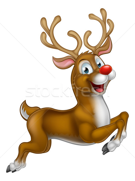 Cartoon Santas Christmas Reindeer Stock photo © Krisdog