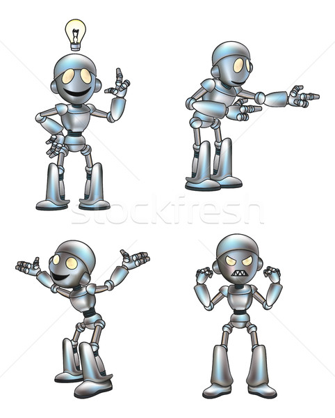 Cartoon Cute Robot Mascot Stock photo © Krisdog