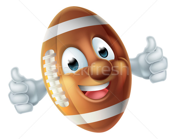 Football Cartoon Character Ball Stock photo © Krisdog