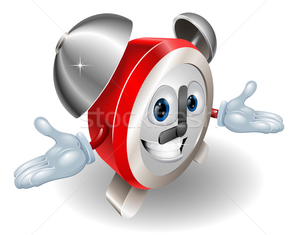 Stock photo: Alarm clock character illustration