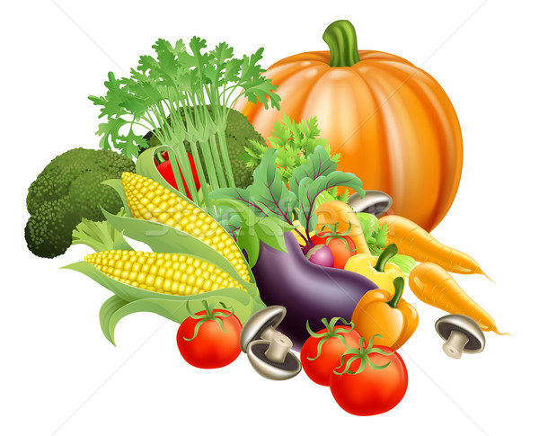Saludable hortalizas ilustración producir Foto stock © Krisdog