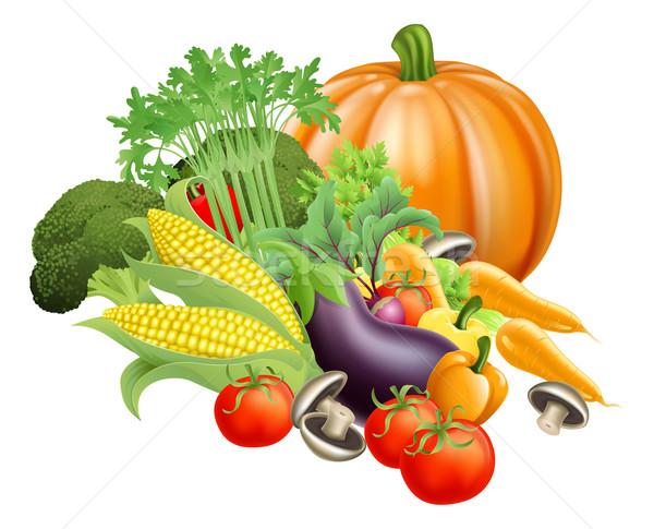 Healthy fresh produce vegetables Stock photo © Krisdog