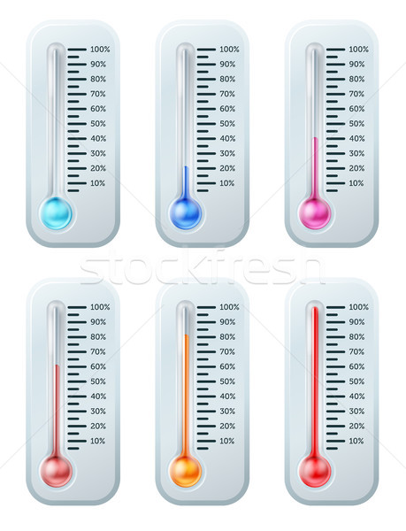 Thermometer series set Stock photo © Krisdog