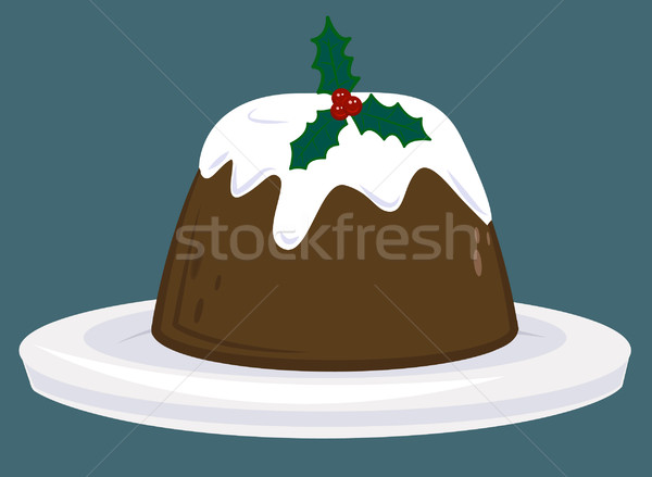 christmas pudding Stock photo © Krisdog