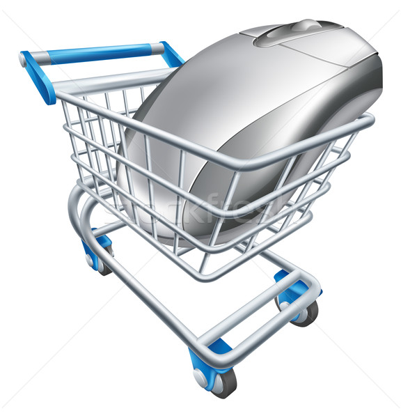 Computer mouse in trolley Stock photo © Krisdog