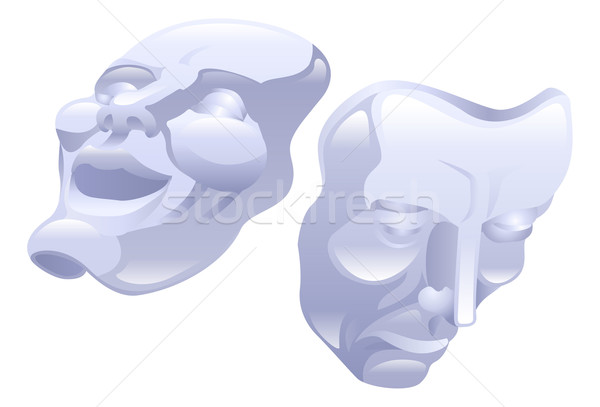 Theatre comedy and tragedy masks. Stock photo © Krisdog