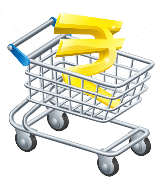 Rupee currency shopping cart Stock photo © Krisdog