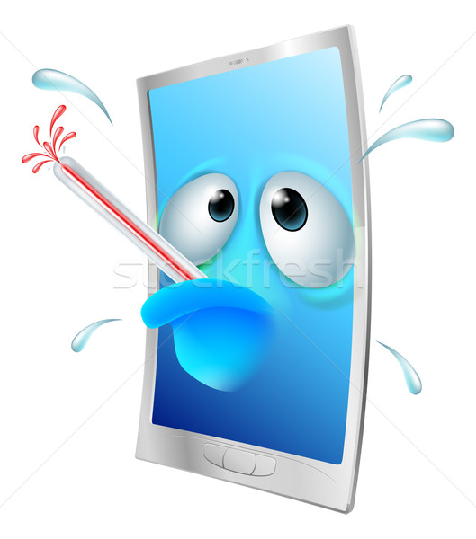 Broken phone cartoon Stock photo © Krisdog