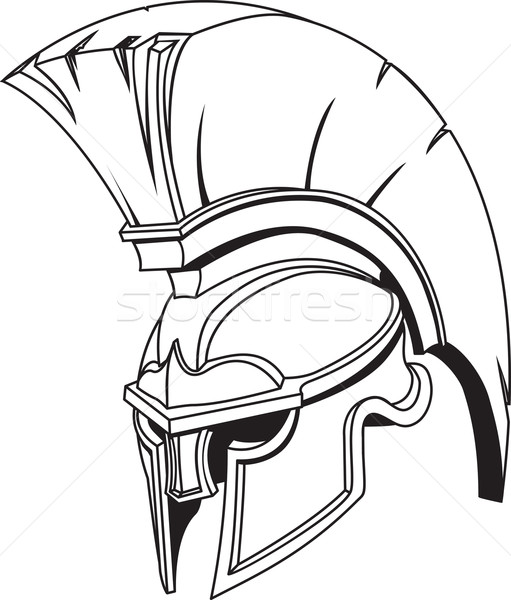 Illustration of Spartan roman greek trojan or gladiator helmet Stock photo © Krisdog