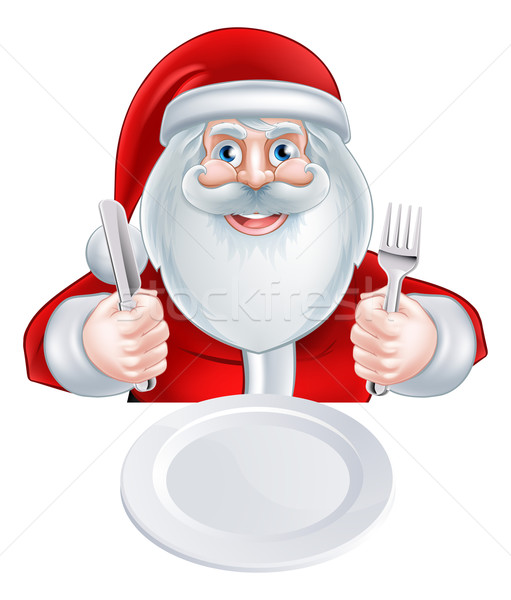 Santa Christmas Dinner Concept Stock photo © Krisdog