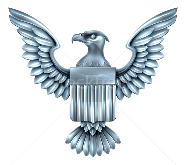 Metal American Eagle Shield  Stock photo © Krisdog