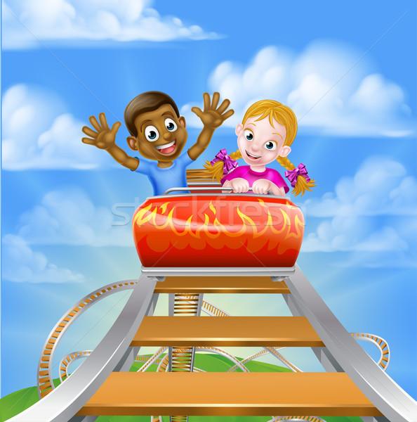 Rollercoaster at the Theme Park Stock photo © Krisdog