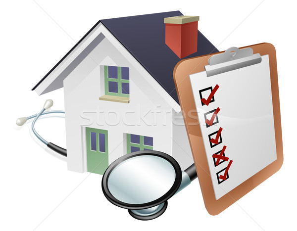 House Stethoscope and Survey Clipboard Concept Stock photo © Krisdog