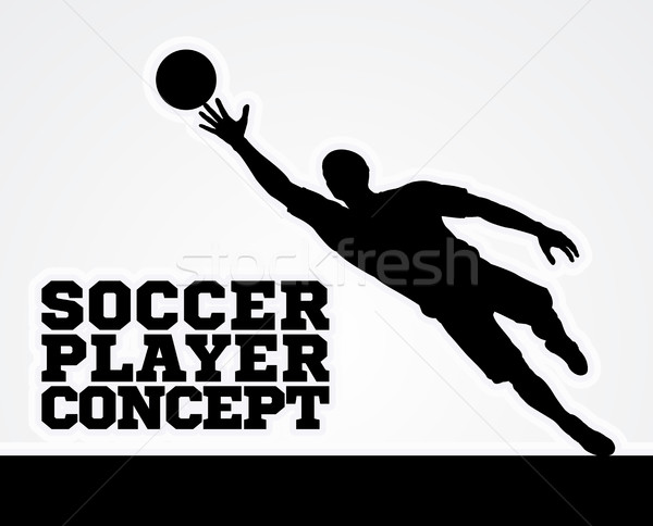 Concept Silhouette Soccer Football Player  Stock photo © Krisdog