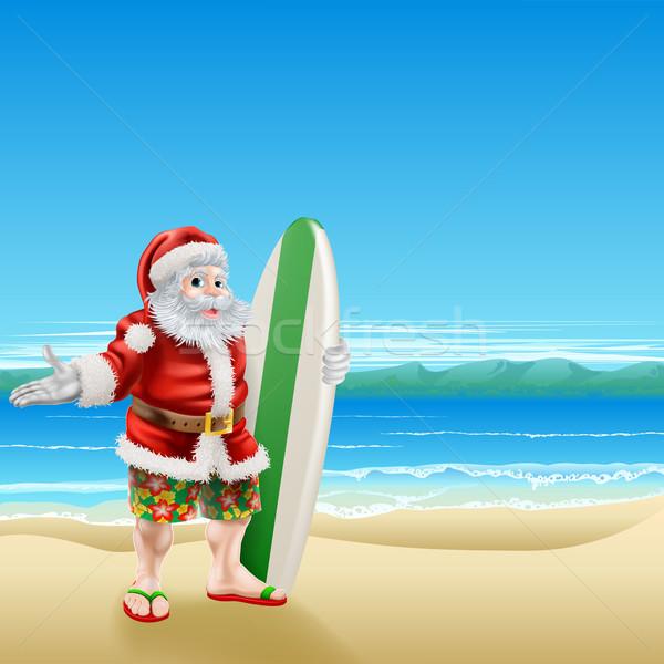 Sörf plaj yaz plaj kıyafeti uzun Stok fotoğraf © Krisdog