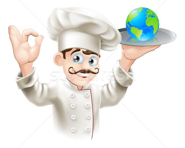 World on a plate Stock photo © Krisdog