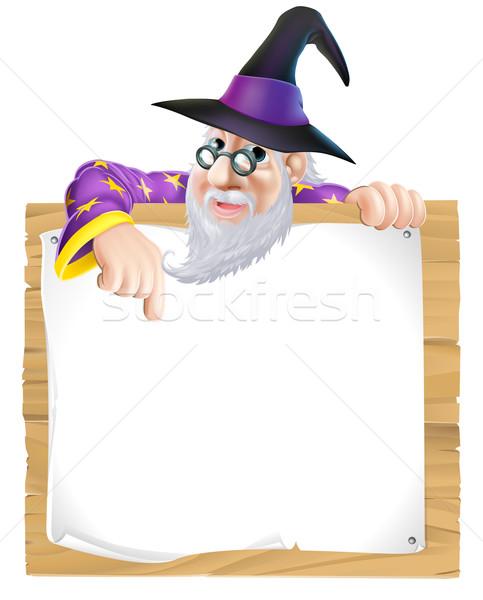 Wizard sign Stock photo © Krisdog