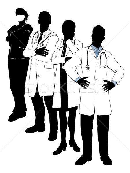 Medical team silhouettes Stock photo © Krisdog