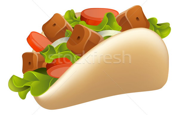 Kebab Illustration Stock photo © Krisdog