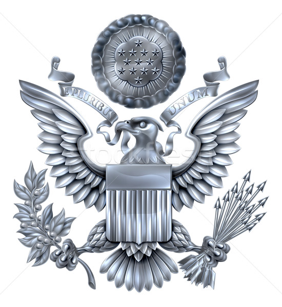 Great Seal of the United States Silver Stock photo © Krisdog