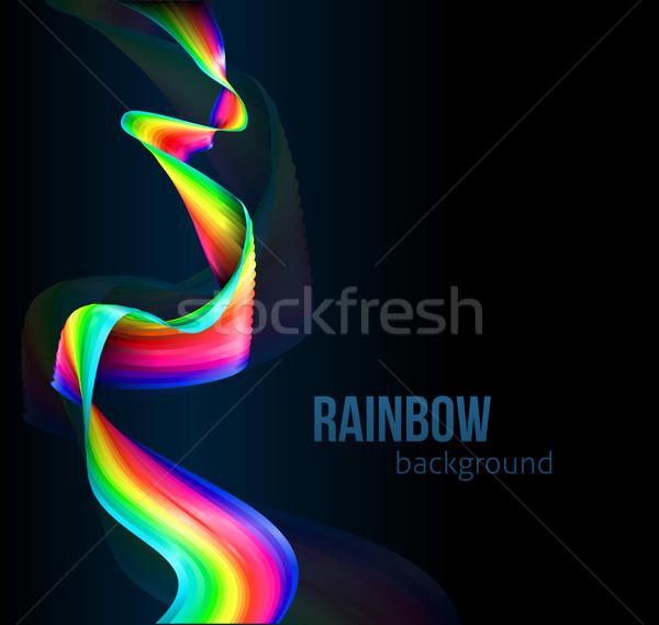 Rainbow Color Ribbon Background Stock photo © Krisdog
