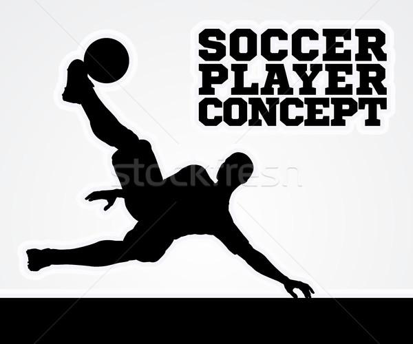 Silhouette Soccer Player Stock photo © Krisdog