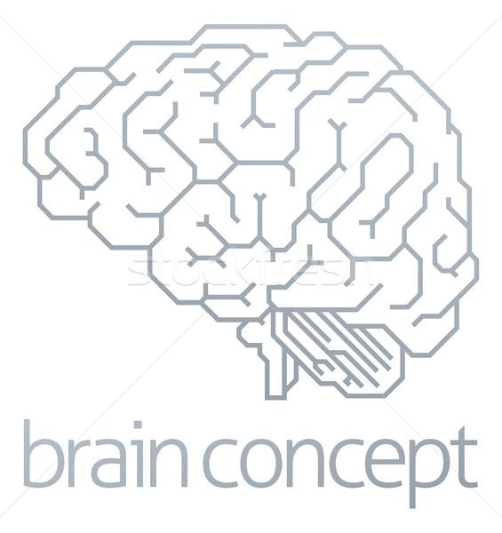 Brain Profile Concept Stock photo © Krisdog