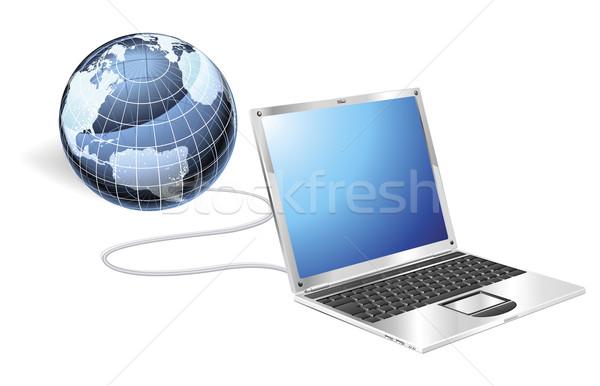 Laptop globe concept Stock photo © Krisdog