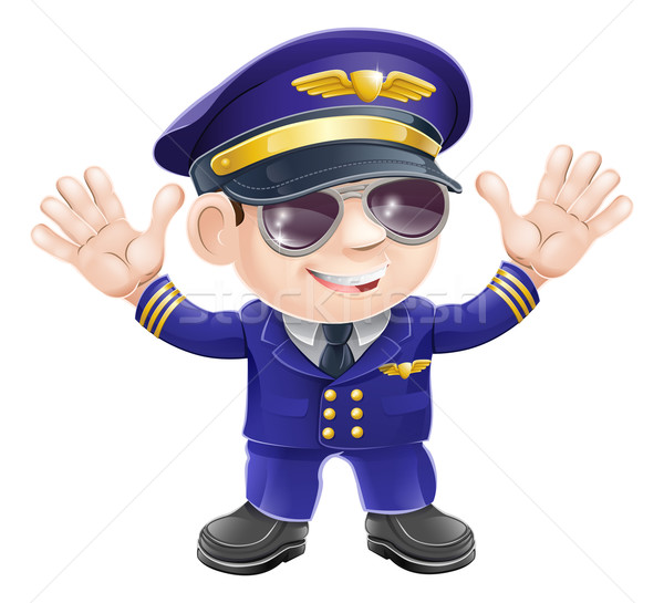 Cartoon airplane pilot  Stock photo © Krisdog