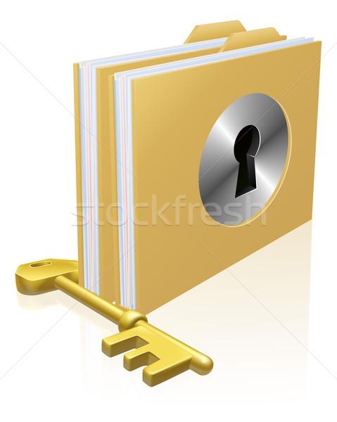 Stock photo: Secure file folder