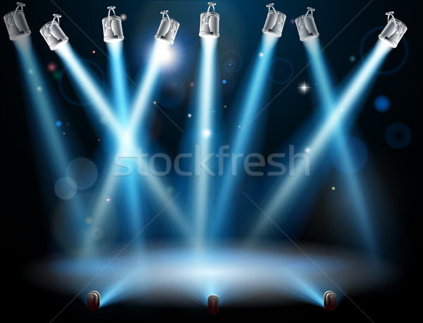 Blue spotlights background Stock photo © Krisdog