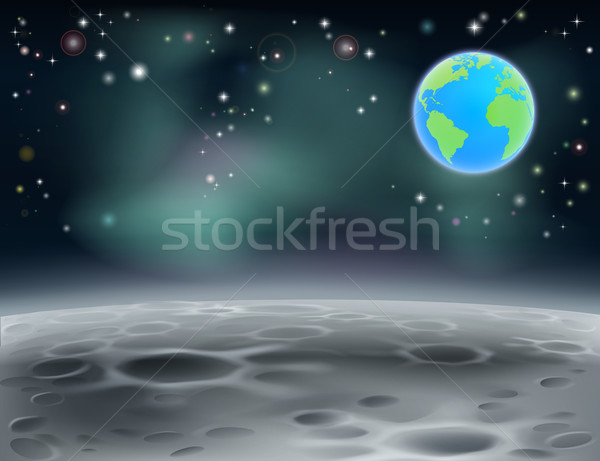 Moon space earth background 2013 C5 Stock photo © Krisdog
