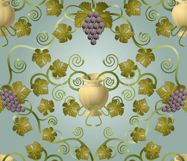 красивой винограда лист урна бесшовный плитка Сток-фото © Krisdog