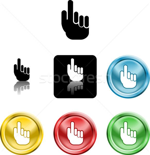 hand icon symbol Stock photo © Krisdog