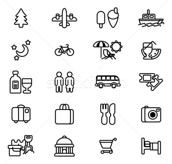 Tourism and travel icons Stock photo © Krisdog