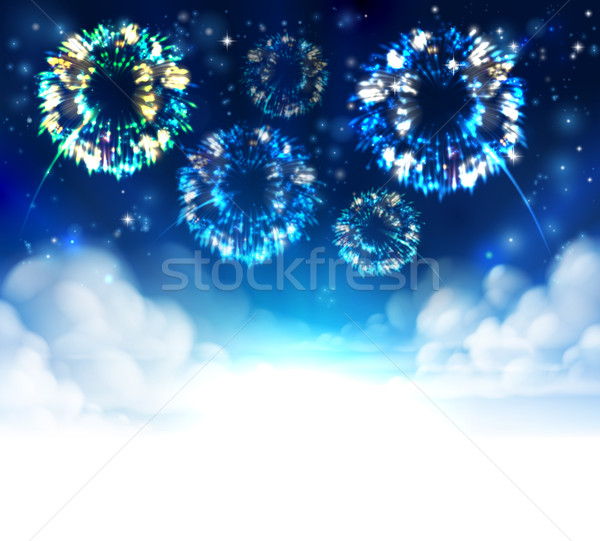 Fireworks Sky Background Stock photo © Krisdog