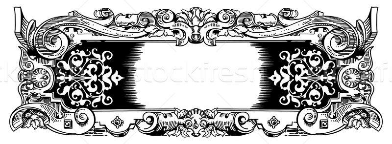 Woodblock style vintage frame Stock photo © Krisdog