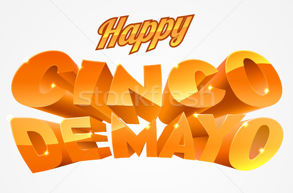 Stock photo: Happy Cinco De Mayo Banner