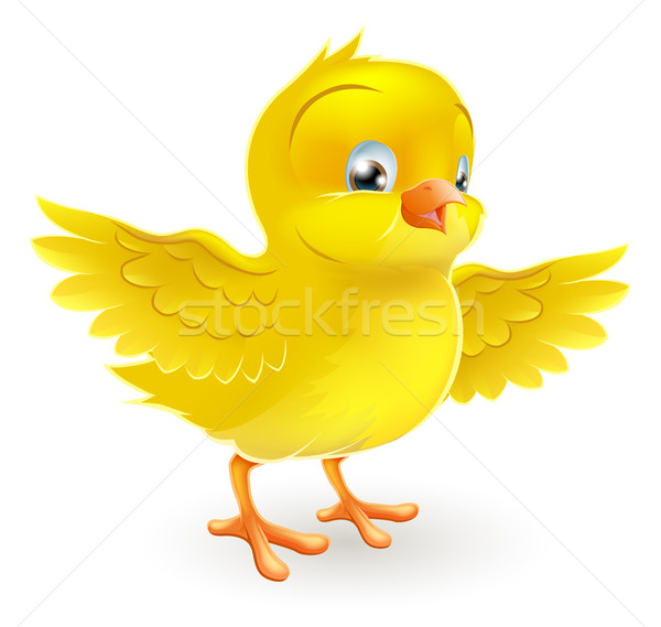 Cute happy little yellow Easter chick Stock photo © Krisdog
