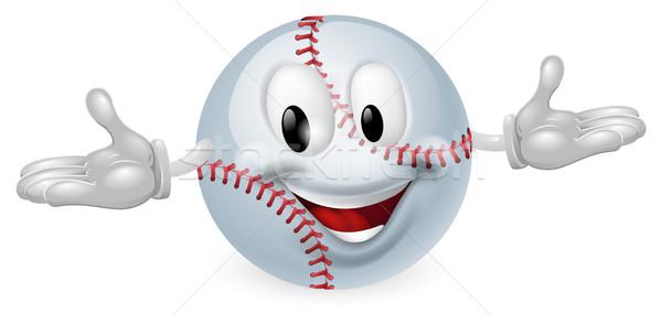 Beisebol bola homem ilustração bonitinho feliz Foto stock © Krisdog