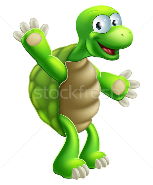 Cartoon Tortoise or Turtle Waving Stock photo © Krisdog