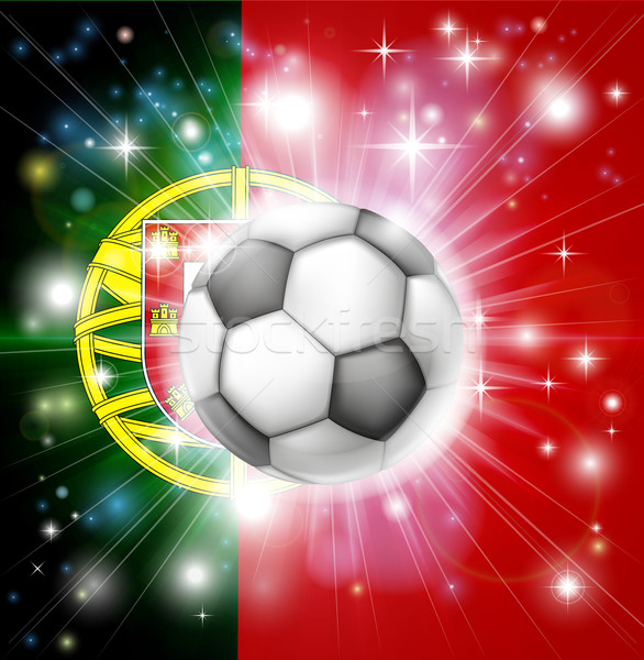 Portugal soccer flag Stock photo © Krisdog