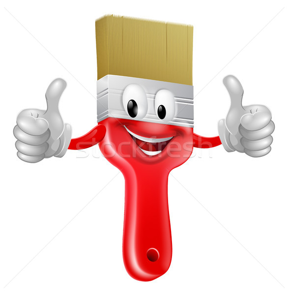 Thumbs up paintbrush Stock photo © Krisdog