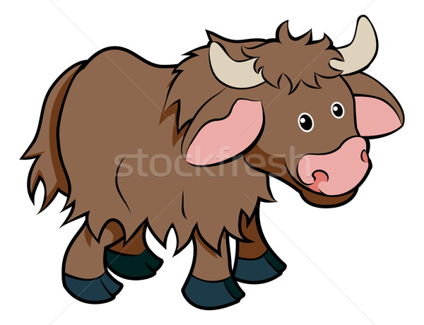 Cartoon Yak animal character Stock photo © Krisdog