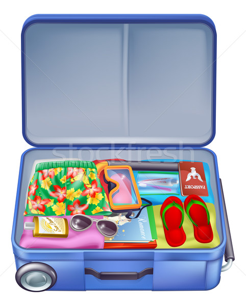 Full holiday vacation suitcase Stock photo © Krisdog