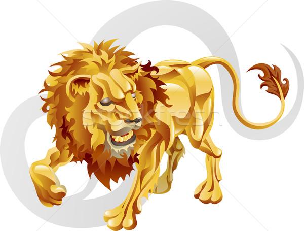 Leo the lion star sign Stock photo © Krisdog